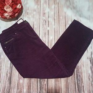 Plum Purple Chico's Corduroy Pants